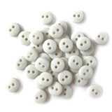 1/4in Tiny Round Buttons - White