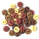 1/4in Tiny Round Buttons - Natural