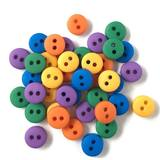 1/4in Tiny Round Buttons - Gemstone