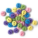 1/4in Tiny Round Buttons - Garden