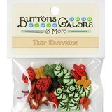 Assorted Tiny Bugs and Insects Buttons - 20pk