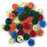 1/8in Micro Round Buttons - Primary