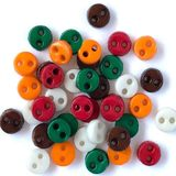 1/8in Micro Round Buttons - Harvest