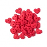 1/4in Tiny Heart Buttons