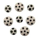 Soccer Balls Buttons - 10pk