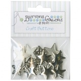 Assorted Silver Star Buttons