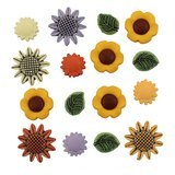 Summer Sunflower Buttons