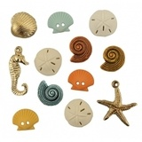Assorted Beach Treasures Buttons