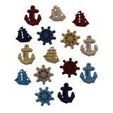 Ahoy Buttons - 15pk