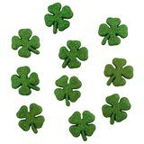 Glitter Shamrocks Buttons - 10pk