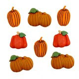 Assorted Pumpkin Patch Buttons - 8pk