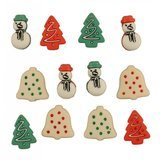 Assorted Christmas Cookie Buttons - 12pk