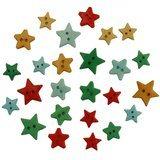 Christmas Stars Buttons - 9pk