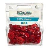 Button Bonanza Grab Bag - Fire Engine Red