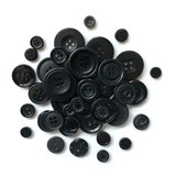 Buttons Galore, Button Basics Bag - Black Licorice