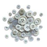 Buttons Galore, Button Basics Bag - Silver Grey