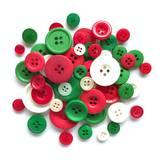 Buttons Galore, Button Basics Bag - Traditional Christmas