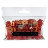 Buttons Galore Color Blend Collection - Tangerine Tango