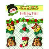 Buttons Galore, Holiday Fun Buttons 6pk - Holiday Pets