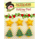 Buttons Galore, Holiday Fun Buttons 6pk - Star of Wonder