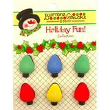 Buttons Galore, Holiday Fun Buttons 6pk - Tree Lights