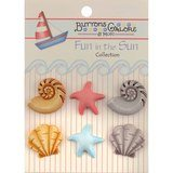 Buttons Galore, Fun in the Sun Collection - Beachcomber