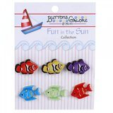 Buttons Galore, Fun in the Sun Collection - Exotic Fish