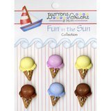 Buttons Galore, Fun in the Sun Collection - Ice Cream Cones