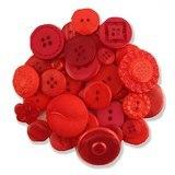 Button Grab Bag - Big Red - 6oz