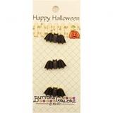 Happy Halloween Bat Buttons - 3pk
