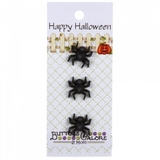 Happy Halloween Spider Buttons - 3pk