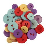 Buttons Galore, Mixed Jar Buttons - Pageant