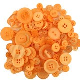 Buttons Galore, Mixed Jar Buttons - Orange Fizz