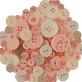 Buttons Galore, Mixed Jar Buttons - Baby Girl