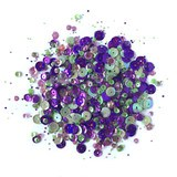 Buttons Galore, 28 Lilac Lane Sequin Tin - Violet Blossom