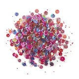 Buttons Galore, 28 Lilac Lane Sequin Tin - Mixed Berry