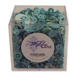 Shaker Mix Embellishment Box - Sea Glass