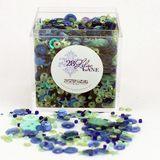 Shaker Mix Embellishment Box - Indigo Mint