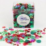 Shaker Mix Embellishment Box - Holiday Wreath