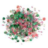 Buttons Galore, Sequin and Bead Mix - Spring Blooms