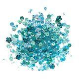 Buttons Galore, Sequin and Bead Mix - Aqua Dreams