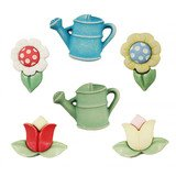 Buttons Galore, Spring Fling Collection Buttons - Garden Treasures