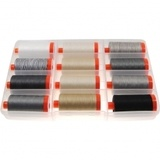 Aurifil, 12 Spool, Paper & Ink Thread Collection - 1422 yds (50wt)