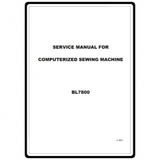 Service Manual, Babylock BL7800