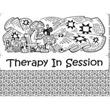 Therapy in Session Fabric Panel - 18in x 20in