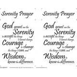 Serenity Prayer Fabric Panel - 18in x 20in