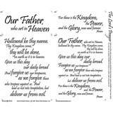 The Lord's Prayer Fabric Panel - 18in x 20in