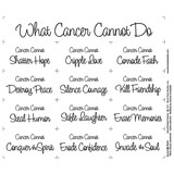 What Cancer Cannot Do Fabric Panel - Natural