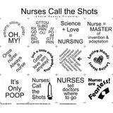 Nurses Call The Shots Fabric Panel - 18in x 20in