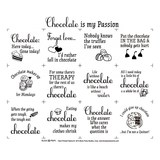 Chocolate Is My Passion Fabric Panel - 18in x 20in